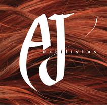 imagen corporativa_AJ estilistas. Un proyecto de Diseño y Diseño gráfico de Estela Pedrero - 20-05-2015
