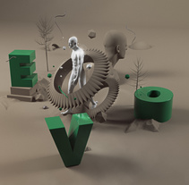Mi Proyecto del curso Dirección de Arte con Cinema 4D. A 3D project by Elvis Benício  - 27-05-2015