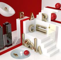Proyecto BARCELONA del curso Dirección de Arte con Cinema 4D. Um projeto de 3D de Albert Ribalta Rosselló         - 27.05.2015