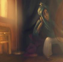 Reflexión. Un proyecto de Ilustración de Elisabeth Castro Martínez - 28-05-2015