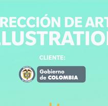 Gobierno de Colombia / Dirección de arte / Diseño . A Illustration, Advertising, and Animation project by Cristian Baez         - 14.02.2015