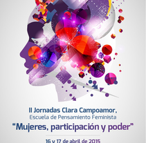 II Jornadas Clara Campoamor. Concejalía de Igualdad del Ayto. de Fuenlabrada. A Design, Art Direction, Br, ing, Identit, Events, and Graphic Design project by Julieta Giganti - 31-03-2015