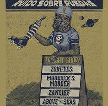 Cartelismo Ilustrado. Concierto Roller Derby Vigo.. Um projeto de Design gráfico de Jaime Rodríguez Carnero         - 11.06.2015