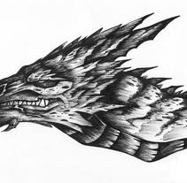 Dragón. Un proyecto de Ilustración y Comic de Laura Núñez Carpintero - 03-06-2015