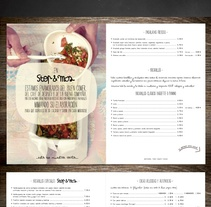 Diseño Menú Restaurante STOP & MOS. A Art Direction, Cooking, and Graphic Design project by Ainhoa  - 03-06-2015