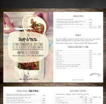 Diseño Menú Restaurante STOP & MOS. Un proyecto de Dirección de arte, Cocina y Diseño gráfico de Ainhoa  - 03-06-2015