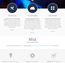 Mist | website. A Web Design project by Natalia  Duarte         - 08.06.2015