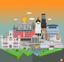 Madrid Skyline. A Illustration, and Graphic Design project by imllo - 09-06-2015