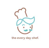 THE EVERY DAY CHEF.IDENTIDAD.. Um projeto de Design, Br, ing e Identidade e Design gráfico de cakes and ink         - 16.06.2015
