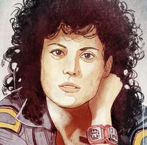 Teniente Ripley. Un proyecto de Ilustración y Pintura de Fende - 21-06-2015
