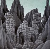 Ruins. A Illustration, Fine Art, L, scape Architecture, and Painting project by Marta Maldonado         - 22.06.2015