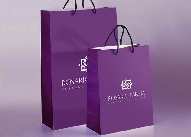 Logotipo para rosario pareja una tienda especializada en for Elementos decorativos para el hogar