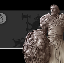 Keynan, King of lions. A 3D, Character Design, and Sculpture project by David Fernández Barruz         - 23.06.2015