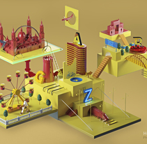 Ciudad del Cierzo. A 3D project by Hugo Puente - Jul 07 2015 12:00 AM
