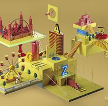 Ciudad del Cierzo. A 3D project by Hugo Puente - Jul 07 2015 12:00 AM