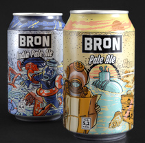 Åbro Bron Ales. A Br, ing, Identit, Art Direction, Product Design, Graphic Design, Illustration, Packaging, and Advertising project by Ink Bad Company - 07.02.2015