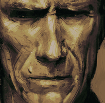 Clint Eastwood. A Illustration, and Painting project by miguel sastre - 06-07-2015