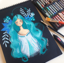 Ilustración al pastel. A Illustration, and Fine Art project by Lydia Sánchez Marco - Jul 23 2015 12:00 AM