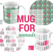 MUGS FOR NOMADS (UNA PLANTILLA VIAJERA). Um projeto de Design, Design gráfico, Marketing e Design de produtos de Chiqui Tejada         - 25.07.2015