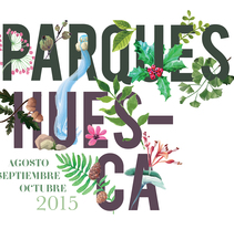 Parques Huesca. A Illustration, and Graphic Design project by Iglöo         - 09.08.2015