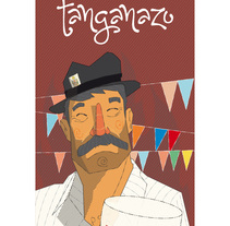 Vino Tanganazo.. A Illustration, and Graphic Design project by Sergio Rodríguez Rodríguez - 09-08-2015