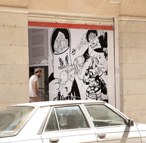 Mural_ARTIK CENTER. Un proyecto de Ilustración y Pintura de marc marín  - 24-08-2015