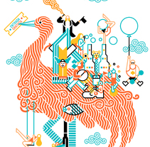 Cidade Imaxinaria. A Fine Art, Br, ing, Identit, Design, Graphic Design, Events, Illustration, Marketing, and Advertising project by Carlos Arrojo - Jul 20 2015 12:00 AM