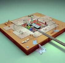 Ciudad Secreta Imaginaria. Um projeto de Design, Ilustração, 3D e Artes plásticas de Raul Jurado Nebot - 05-11-2015