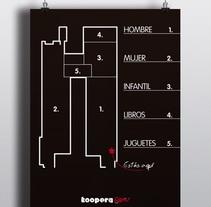 Zonificación tienda. Mapa y señalética. Um projeto de Arquitetura, Design gráfico e Design de interiores de Alex Goienetxea - 22-02-2015