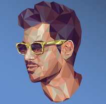 Lowpoly Portrait. A Design, Illustration, and Graphic Design project by Carlos Anguis         - 12.09.2015