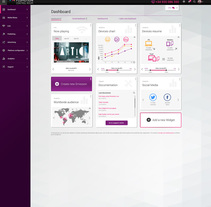 Flumotion Control Room, a B2B project to manage Flumotion streaming platform. A Information Architecture, Br, ing, Identit, Web Development, Product Design, Web Design, and UI / UX project by Céline Alcaraz - Sep 17 2015 12:00 AM