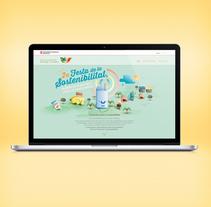 Festa de la sostenibilitat. Keyvisual, poster, site web y mobile.. Un proyecto de Dirección de arte, Diseño gráfico, Diseño Web, Ilustración y UI / UX de Daniel Vidal - Viernes, 18 de septiembre de 2015 00:00:00 +0200