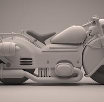 Moto Futurista en 3d Max y Vray. Um projeto de 3D e Design de automóveis de Àlvaro Tobar Orte         - 23.09.2015