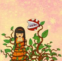 Cuando las plantas se revelen todo será rosa. A Illustration project by elena  - 28-09-2015