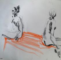 Dibujo con Modelo Vivo. A Fine Art project by Sara Mena         - 28.09.2015