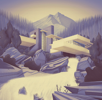 Ilustración de arquitectura. A Art Direction&Illustration project by Carla Lucena - Sep 30 2015 12:00 AM