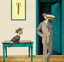 Tucan y Hombre / Collage. Un proyecto de Ilustración y Collage de Paco Campos Pérez - 29-09-2015