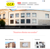 WEB Construcciones Cristobal Abengozar. Um projeto de Web design de Moisés Escolà Martínez         - 17.10.2014