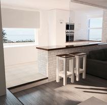 Propuesta para reforma  de apartamento en La Nogalera. Torremolinos. Un proyecto de 3D, Informática, Arquitectura, Arquitectura interior y Diseño de interiores de U Pagoaga         - 21.10.2015
