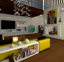 Loft House 3D max V-Ray Photoshop. A Design, 3D, Architecture, Furniture Design, Interior Architecture&Interior Design project by Carmen San Gabino - 01-11-2015