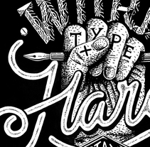 """LETTER-INK · Video """"Work Hard Stay Humble"""" . A Illustration, Screen-printing, T, and pograph project by Javier Bueno - 11.04.2015"""
