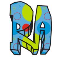 LOGOTIPO PARA UNA EMPRESA DE DISEÑO GRAFICO LLAMADA RAJHORI. A 3D project by Richy Sosa - 11-11-2015