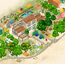 LA HORNERA bioescuela. Un proyecto de Ilustración, Bellas Artes, Diseño de juegos y Diseño gráfico de Luis Gomariz - 12-11-2015