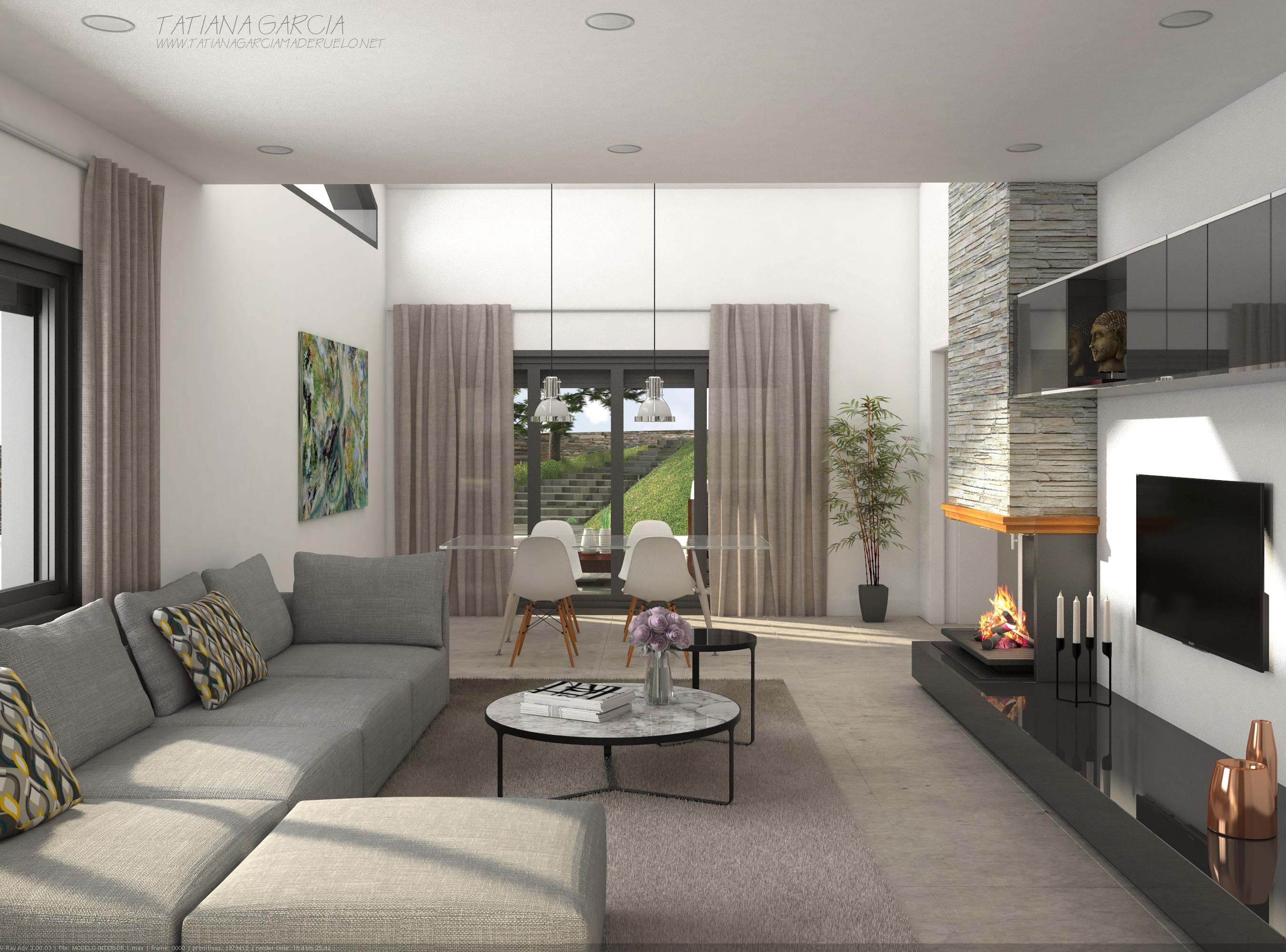 Interiorismo vivienda unifamiliar domestika - Interiorismo de casas ...