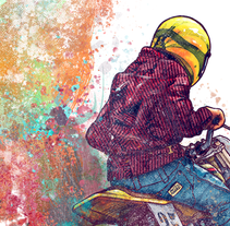 Born to ride. A Illustration, and Graphic Design project by Moises Andrade         - 30.11.2015