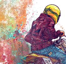 Born to ride. Un proyecto de Ilustración y Diseño gráfico de Moises Andrade - 30-11-2015