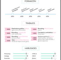 Mi CV. Un proyecto de Diseño gráfico de Alana García Ortega - Jueves, 03 de diciembre de 2015 00:00:00 +0100