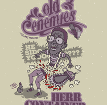Cartel Old Enemies & Herr Container. A Graphic Design&Illustration project by Jaime Rodríguez Carnero - Dec 04 2015 12:00 AM