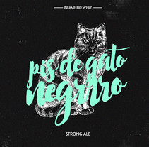 Pis de Gato Negro Beer. A Br, ing, Identit, and Graphic Design project by Javi Sendra Guinea         - 05.12.2015