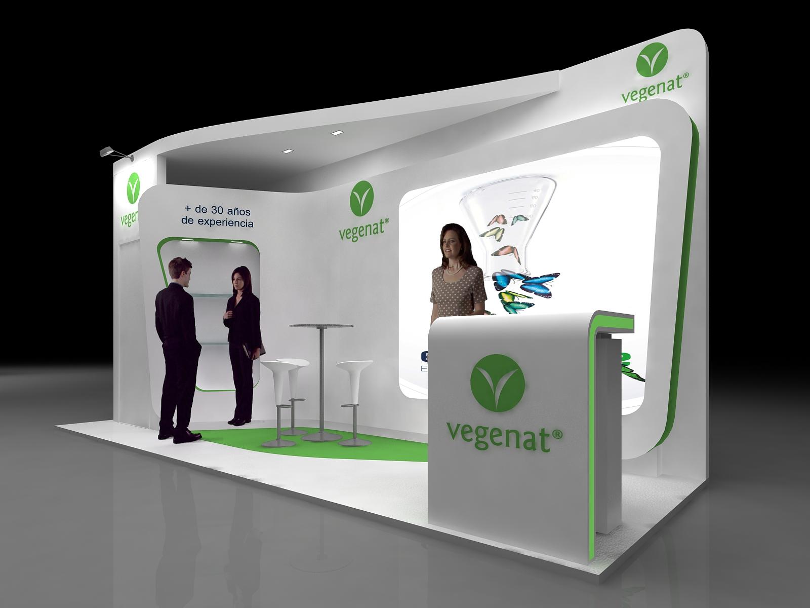 Dise o stands vegenat domestika for Disenos de stand para exposiciones